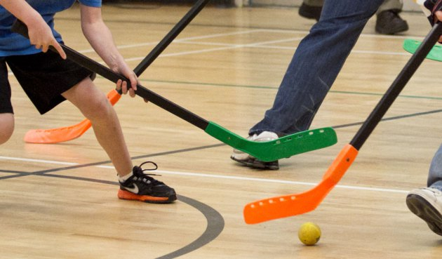 Floor hockey at Newport ymca