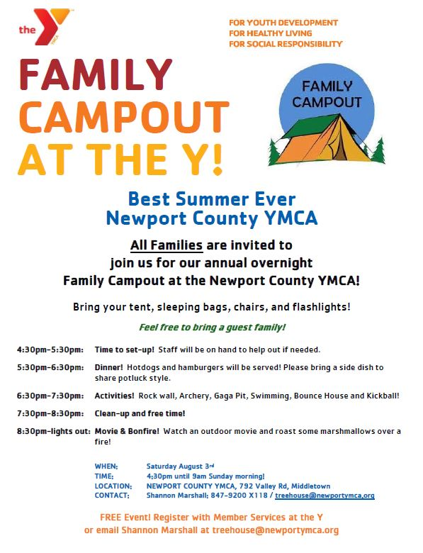 family-campout - Newport YMCA