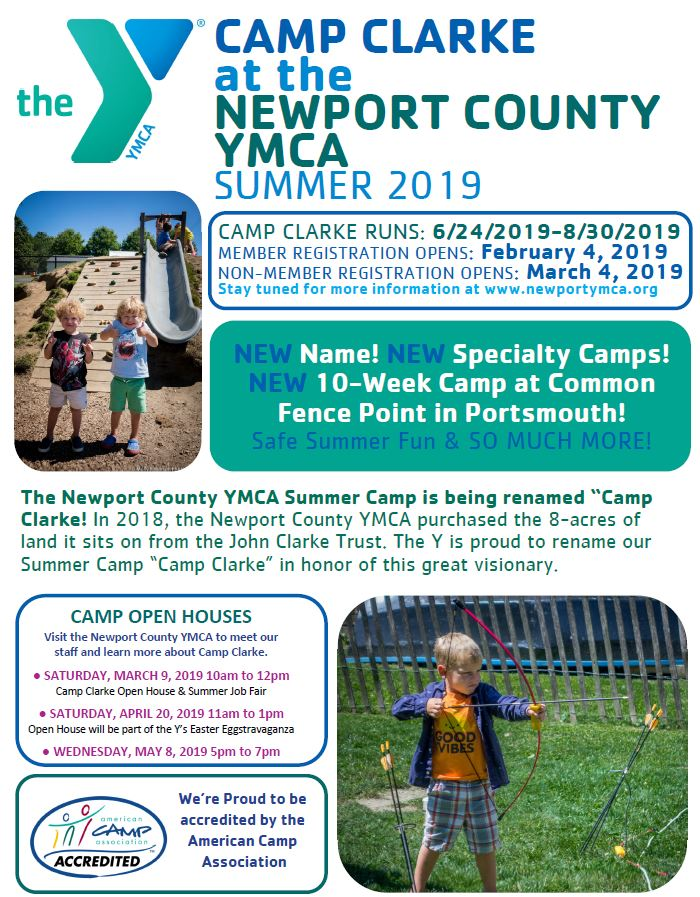 Camp Clarke Open House & Summer Job Fair at the Newport